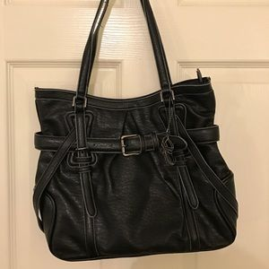 Black Kenneth Cole Reaction Shoulder Purse